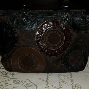 Vintage Coach Brown Handbag